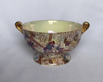 A Maling Lustre Twin Handled Bowl