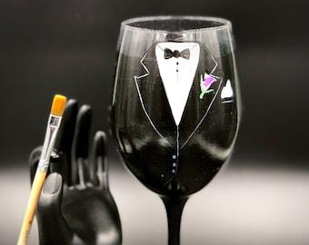 Groom Wedding Glass