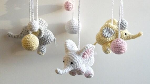 Baby Mobile Gehäkelter Elefant Häkeln Baby Geschenk Etsy