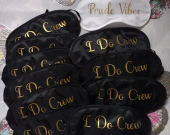 Personalised Sleeping EYE MASKS, Bride to be, Wedding, Travel Mask, Hen Party, Blindfold, Bachelorette Party, Bridal Shower, Favors Bride