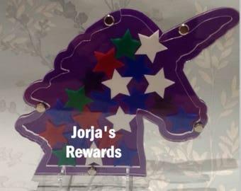 Reward chart, unicorn, drop box, behavior incentive, boys, girls, chore chart, potty training, reward box, reward chart, PERSONALISED