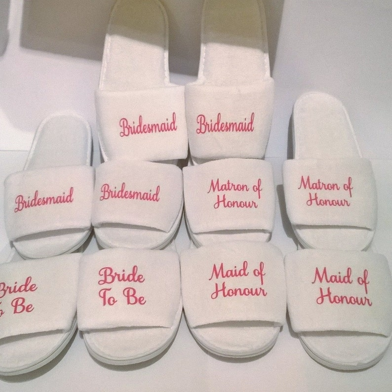 Wedding slippers bridal slippers personalised slippers kids  8a1230827110