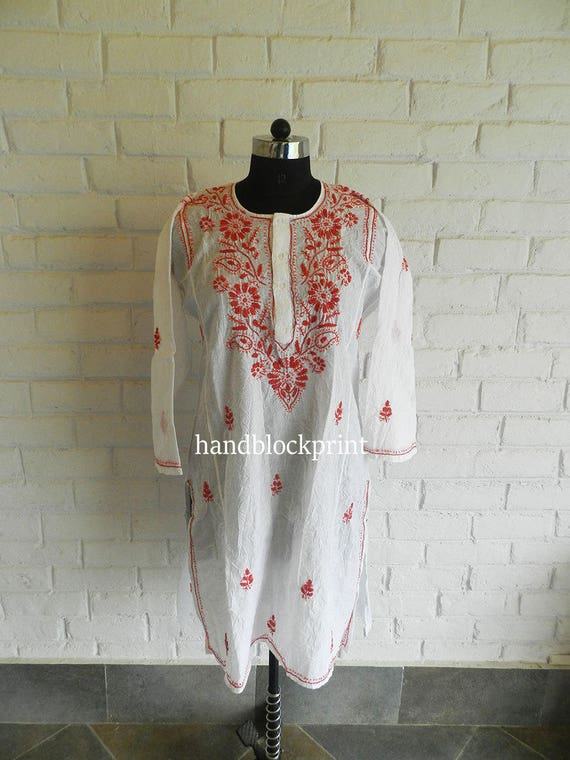 Women White Embroidered Tunic,Summer Tunic,Beach Tunic,Bohemian Tunic,India Tunic,White Tunic,Maxi Dress,Night Dress,Indian Blouse,White Top