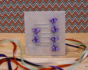 Set of three bow paperclip bookmarks or planner markers