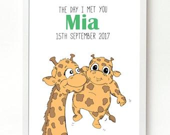 Single Parent Personalised Print. Adoption Print. New Baby Gift. Baby Name Print. Nursery Print. Kid's Room Print.