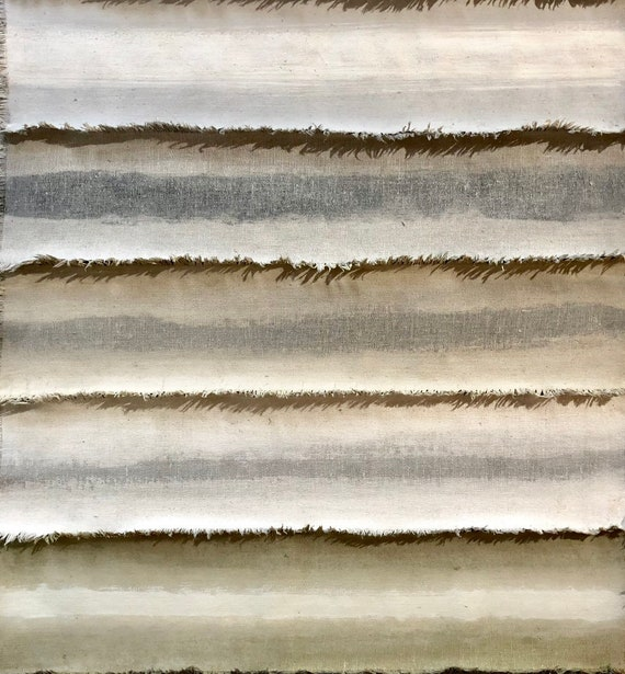 Fog: Painted and torn fabric