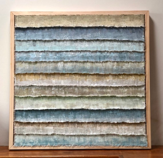 Layers: Painted and torn fabric