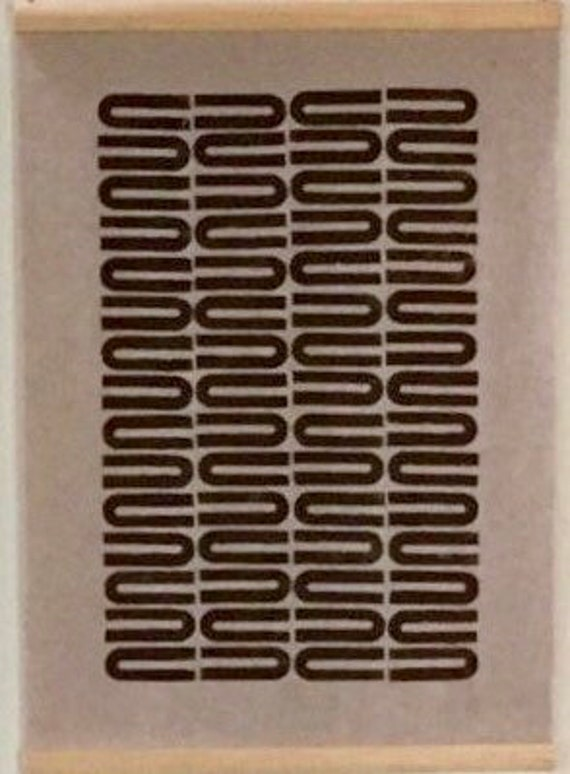 U Turn: Blocked-printed wallhanging in brown