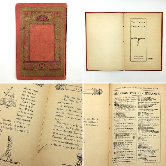 Livre Ancien Francais Tom Pouce Livre Pour Enfants Vintage Livre En Francais Livre De Conte De Fees Cadeau De Naissance Vintage Francais Cadeau