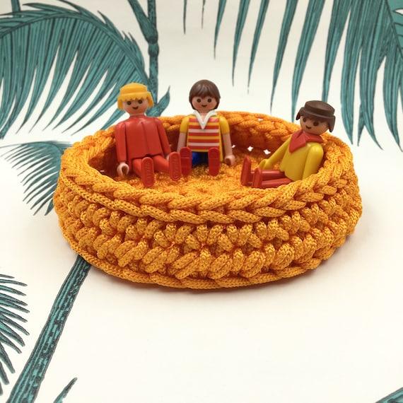 Crochet Trinket Bowl. Storage Basket. Halloween. Orange | Etsy