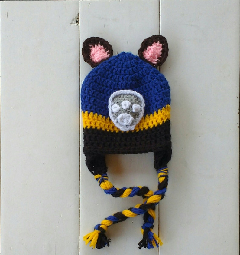 8b3498d88ee Paw patrol hat Chase hat Chase paw patrol crochet hat