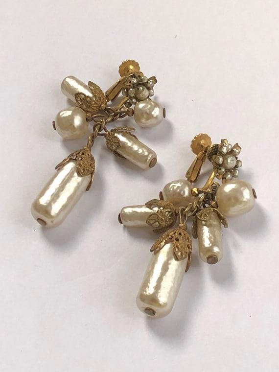 Miriam Haskell earrings - fabulous