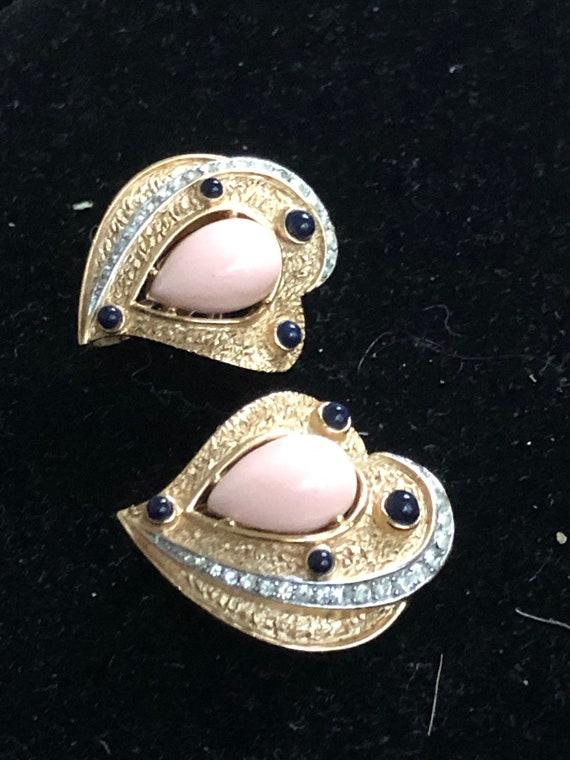 Trifari earrings - rare & gorgeous - image 3