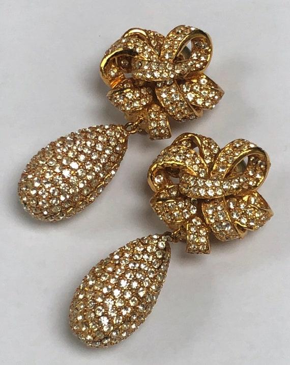 Ciner earrings - fabulous encrusted earrings