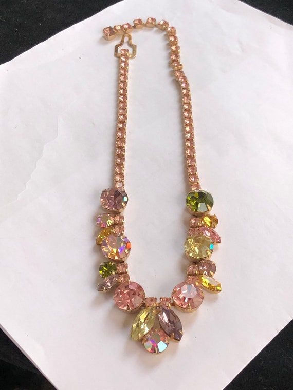 Gorgeous signed pastel Weiss necklace