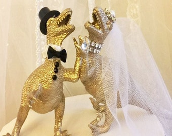 Dinosaur wedding cake topper | Etsy