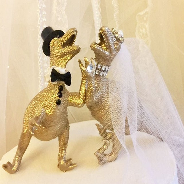 Dinosaur Wedding Cake Topper Raptor T-Rex Wedding Cake | Etsy