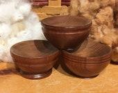 Hand-Turned Wooden Tahkli Bowl - Cherry Wood