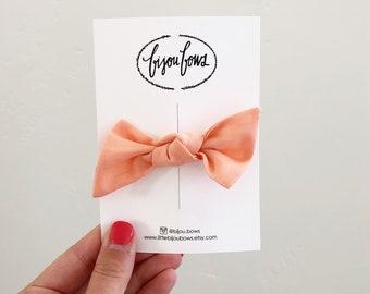 Peach Knot Headband/Clip