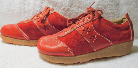 348263a1b5d0 Gaymode Leather   Suede With Stars Sneaker Like Shoes