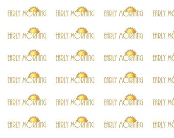 Early Morning Wordy Icons WI0015