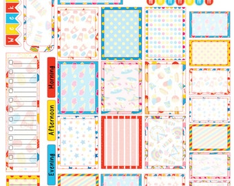 Carnival Craze Weekly Set for Mormon Mom Planner MMP0016
