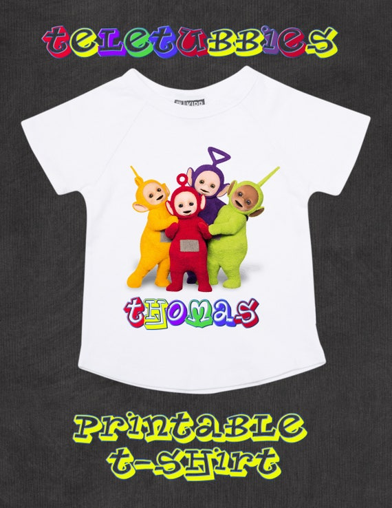 Teletubbies T Shirt Custom Made Birthday