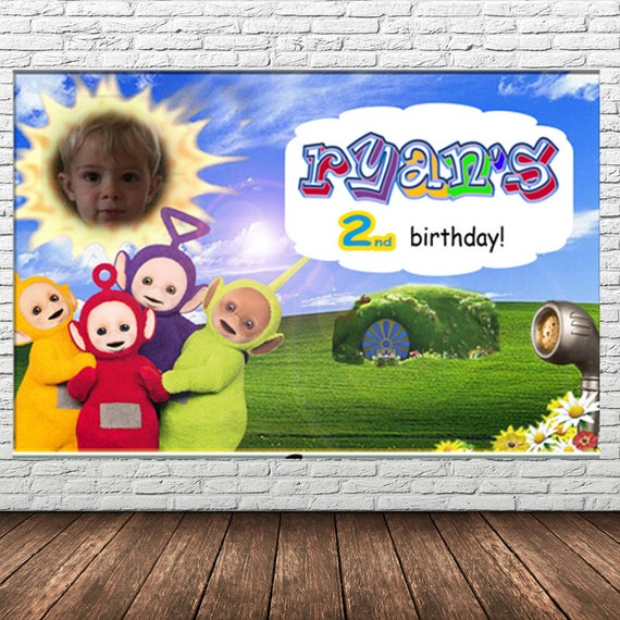 Teletubbies Birthday Poster 3feet X 2 Feet You Print Digital Etsy