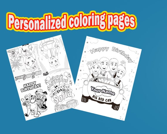 The Wiggles PERSONALIZED Coloring pages birthday party favor | Etsy