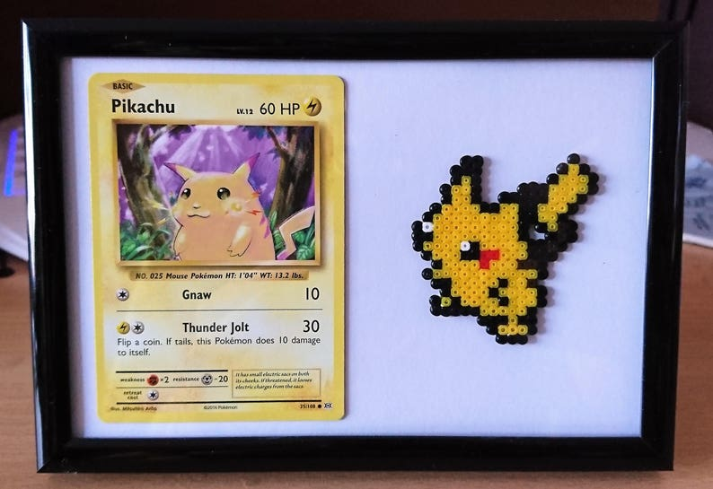 Pokemon Pikachu Frame with Pikachu Card