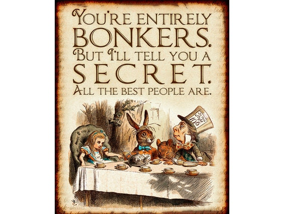 Alice In Wonderland Printable Decorations Mad Hatters Tea Etsy