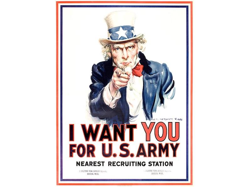 a0cbaa4d4d7 La segunda guerra mundial cartel tío Sam te quiero para | Etsy
