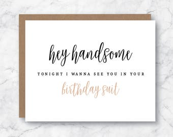 Sexy birthday card for him