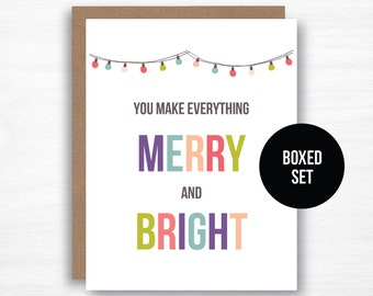 you make everything merry and bright card cute christmas card colorful christmas card merry and bright card pretty christmas card
