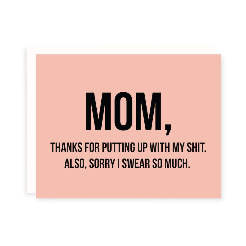Mom Card  Funny Mother's Day Card   Mom Birthday Card  image 0