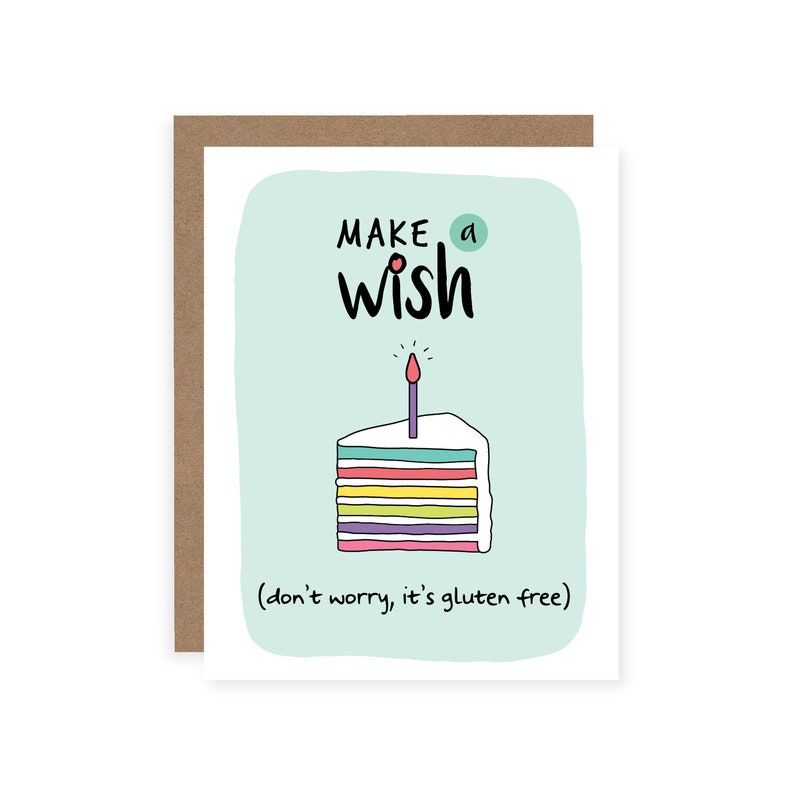 Gluten Free Birthday Card Funny