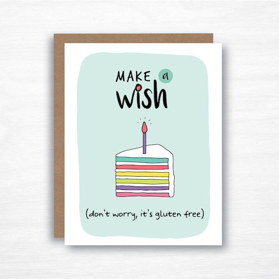 Gluten Free Birthday Card Funny