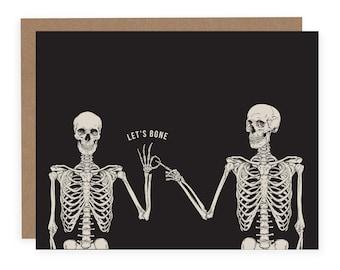 Let's Bone Card - Sex Card - Funny Valentine's Card - Naughty Valentine's Day Card - Husband Card -  Boyfriend Card - Love Card