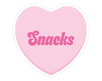 Snacks Sticker - Vinyl Sticker - Waterproof Sticker