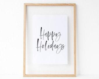 Christmas Party Printables, Black White Christmas, Christmas Party Decor, Christmas Printables, Christmas Party, Holiday Printables