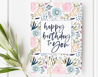 floral birthday card printable birthday card watercolor floral cards happy birthday card floral cards pretty birthday card