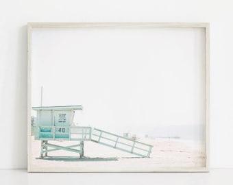 Beach Printable, Beach Art Print, Printable Art, Beach Decor,  Beach Printable Art, Lifeguard Tower, Beach Photography, Coastal Decor