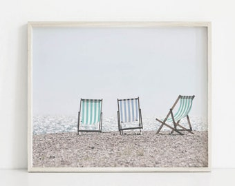 Beach Decor, Beach Chairs Print, Beach Wall Art, Beach Chairs Decor, Beach Print, Ocean Wall Art, Lake Print, Ocean Decor, Cottage Decor