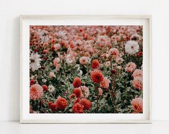 Wildflower Print, Wildflower Art, Flower Field Print, Floral Fields, Wildflower Photo, Botanical Print, Floral Art, Floral Printable