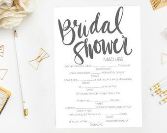 Funny Bridal Shower Game, Printable Shower Game, Funny Bridal Game, Bridal Games, Fun Bridal Shower, Bridal Shower Funny, Fill In Blank Game