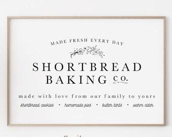 Large Christmas Baking Sign Printable