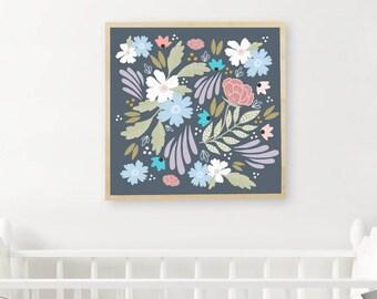 Floral Print, Printable Art, Floral Paintings and Prints, Floral Painting, Scandinavian Print, Scandinavian Art, Nursery Decor, Floral Art