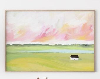 Modern Sky Farmhouse Painting
