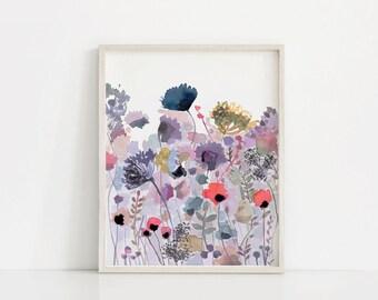 Wildflower Watercolor Print, Floral Printable, Wildflower Print, Floral Watercolor Print, Watercolor Wildflowers, Floral Art Print