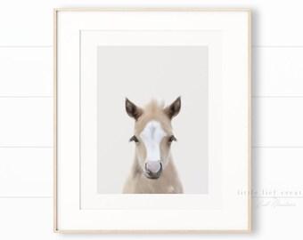 Nursery Horse Wall Art, Horse Print, Baby Farm Animals, Nursery Wall Art, Horse Wall Art, Nursery Animal Prints, Farm Animal Wall Art